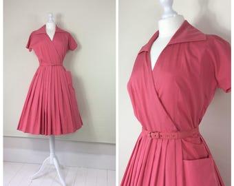 1950s Dress, Peter Barron , Full Skirt, UK size 10-12, US size 8-10.