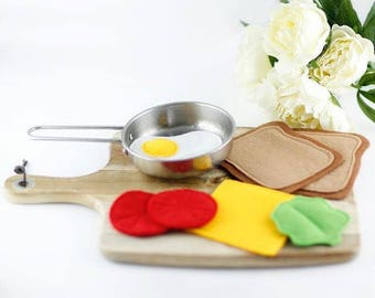 Pretend Play Food, Felt food Play, Felt Sandwich, Pretend Food, Pretend Play, Kitchen Food, Play Food Set, Toddler Toys