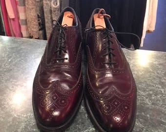 Men Size 12 Brogues Burgundy