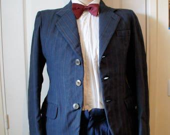 Veste Homme bleu à rayures  vintage années 1940