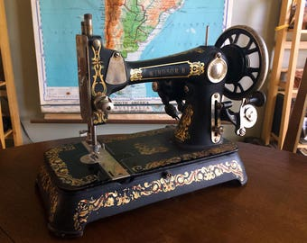 Gorgeous 1927 National Sewing Co Windsor II Electric Sewing Machine - Great Working Condition with Manual & Attachments