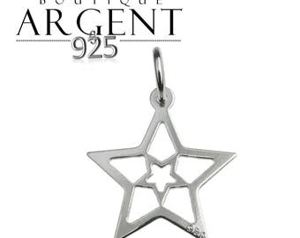 Star shaped charm pendant in 925 19.1 X 14.1 mm