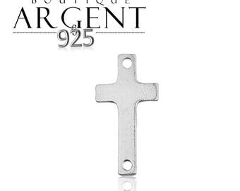 Connector cross spacer 15.9 X 7.8 mm 925 sterling silver charm