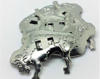 10  metal Buffalo Conchos 5cm x 4cm Native American Adornments