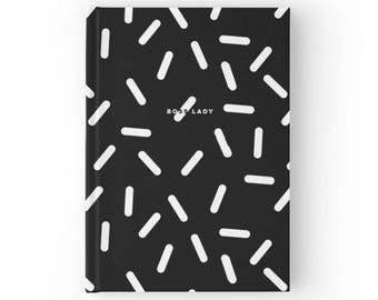 Boss Lady Sprinkle Notebook Hardcover or Spiral