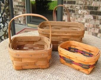 Three Longaberger Baskets