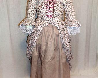 18th Century Girl's Small Flowered Dress