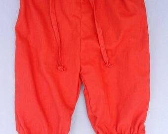 Red linen Orange - 4 years old Kids pants