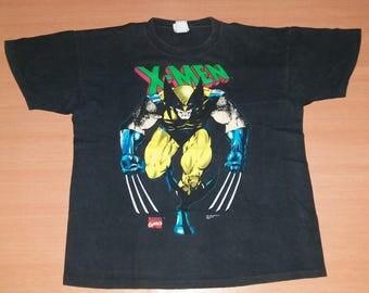 Vintage 1992 X-MEN Wolverine Cyclops Marvel Comics promo rare XL size 90s 80s T-shirt
