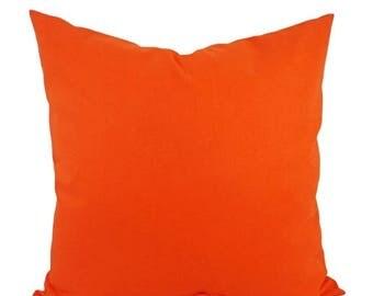 15% OFF SALE Solid Orange Pillow Cover - Orange Throw Pillow - Linen Pillow Cover - Solid Orange Throw Pillow - Custom Decorative Pillow - 1