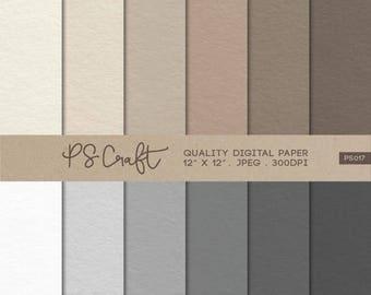 "15% OFF Craft Paper Digital Papers, ""CRAFT PAPER"" texture, Plain Digital Paper Pack"