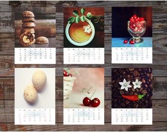 2018 desk calendar Fine art photography Creative Food photography 4x6 Loose leaf 2018 calendar Rustic Cottage chic Still life and Food