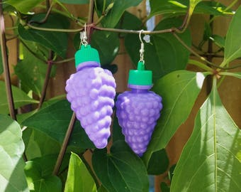 90s Grape Earrings Fruit Candy vintage inspired mod 60s