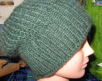 Warm Hand Knit Slightly Slouchy Hat