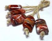 Lampwork beads handmade Beads supplies jewelry Beads for jewelry making Murano beads Set beads Beads SRA Beads red,white .