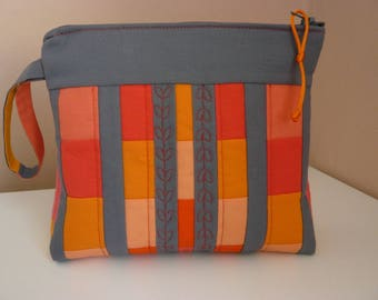 "Kit ""will"" patchwork Orange and gray"