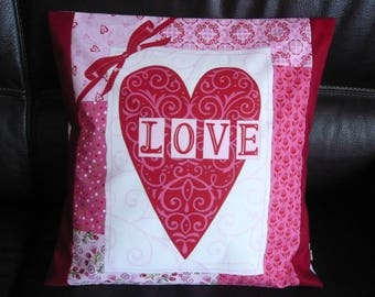 """Love Red"" Cushion cover"