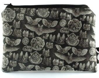 Bat Makeup Bag - Gothic Cosmetics Bag - Pencil Case - Halloween - Creepy Cute - Oddity