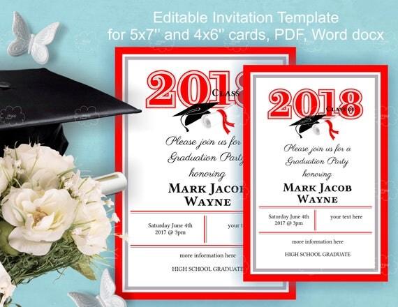 Graduation invitation template download edit yourself invitation il570xn filmwisefo