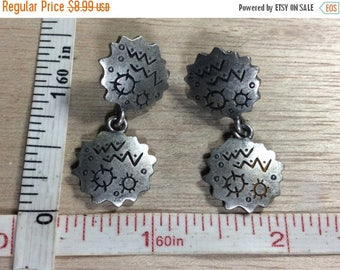 10% OFF 3 day sale Vintage Venue Pewter Glyph Earrings Used