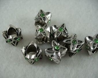 Metal bead, 8 pieces  (992)
