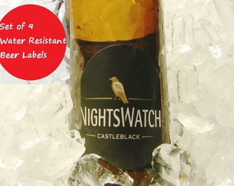 Nightswatch Beer Labels, Game of Thrones, Game of Thrones Party, Jon Snow, Game of Thrones Beer, Game of Thrones Gift, Stocking Stuffer