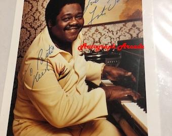 FATS DOMINO Signed Original Autographed Photo 5x7 COA