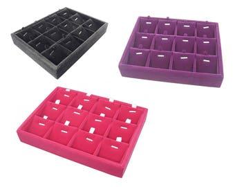 Jewelry Display Case for Earrings / for Charms / for Pendants / for Earrings, Black Velvet, Hot Pink Velvet, Purple Velvet for Shop Display