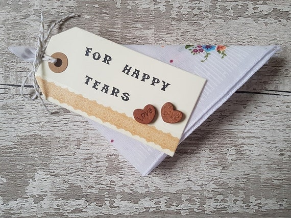 wedding favor handkerchief For Happy Tears favour cotton gift