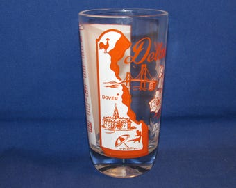 Big Top Peanut Butter DELAWARE STATE GLASS Song Glass 50s Promo Advertising