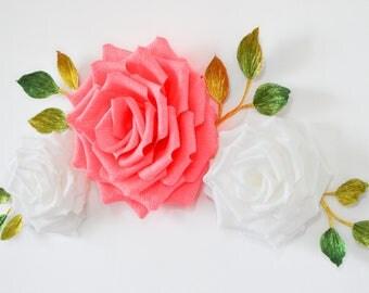 Paper Flowers Wall Decor/ Paper Flowers/ Wedding Decoration/Nursery Flowers/ Baby Shower/ Bridal Shower/ Wall Flowers/ Paper Flower Backdrop