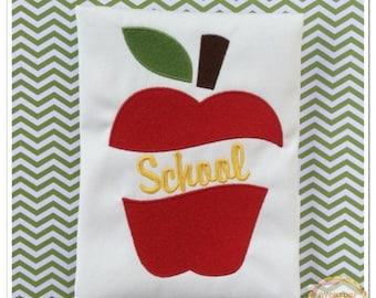 ON SALE Split Apple Machine Embroidery Design