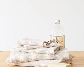 Beige Linen Waffle Towel