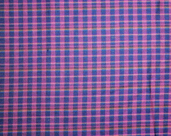 Light-weight Wool Plaid Fabric - 40""