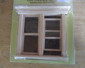 Houeworks 5037 maison de poupée en bois Yorktown Side-By-Side travail fenêtre neuf