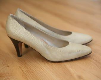 Vintage Ferragamo Heels from 60s-70s size 6.5 AA