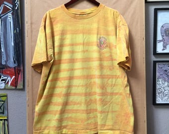 Vintage Ocean Pacific Striped Tie Dye Boxy Fit Shirt 1992 OP California Surfwear Surfing Irvine California Large