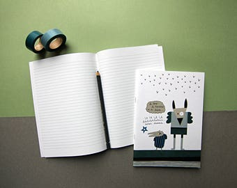 POK notebook / / / 48 lined pages