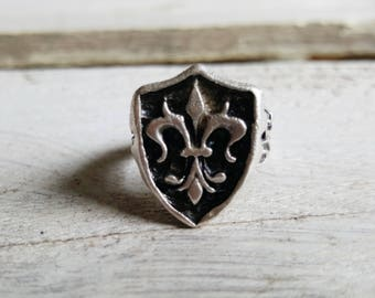 """Ring adjustable """"Siegelring"""" silver plated"""