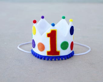 Boys 1st Birthday Primary Colors Crown - Boys First Birthday Crown Sesame Street Elmo - Hungy Caterpillar
