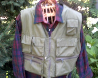 Vintage Orvis Fishing Sportsman Vest, size Lg., 12 Pocket, Green Fishing Vest, Cotton Sportsman Vest, Outdoorsman Vest L