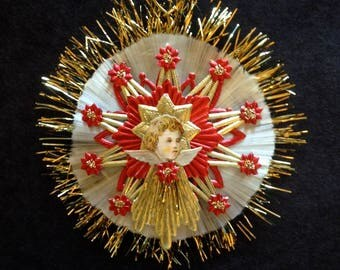 JULY SALE ~ Beautiful Victorian Inspired Die Cut Angel Christmas Ornament