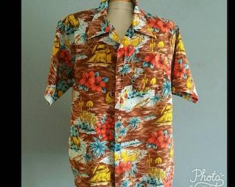 Waikiki 76 mens vintage hawaiian shirt.