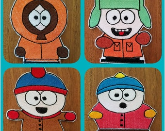 South Park Iron on Patches - Kyle, Kenny, Stan and Eric