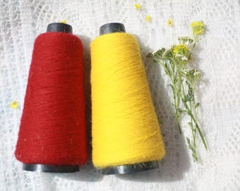 Colored lace yarn from Orenburg combed goat down