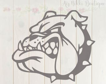 Bulldog SVG, PNG, DXF files, instant download