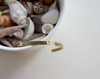 Here comes the sun | Handstamped bracelet 4mm