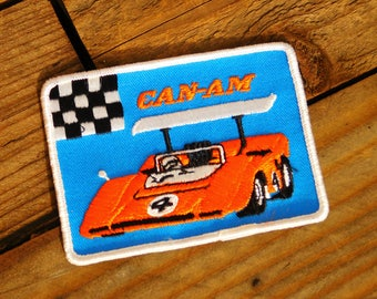 Vintage 70s Can Am Racing Sew-On Patch