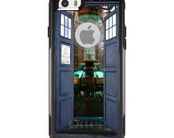 OtterBox Commuter for Apple iPhone 5S SE 5C 6 6S 7 8 PLUS X 10 - Custom Monogram - Any Colors - TARDIS Interior Bigger On The Inside