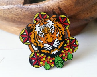 "OG Bassnectar ""Down Like Animals"" Tiger Hat Pin"